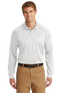 CornerStone White CS410LS custom business polo shirts