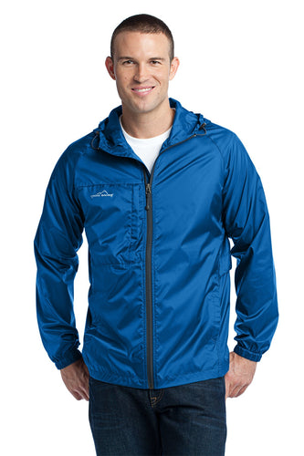 eddie bauer packable wind jacket eb500 brilliant blue