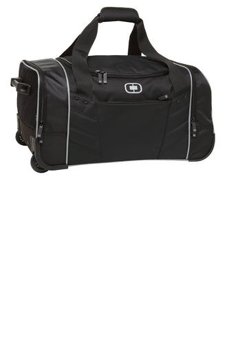 ogio hamblin 30 wheeled duffel 413010 black silver