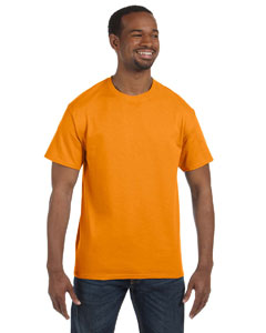 Hanes Men's 6.1 oz. Tagless T-Shirt 5250T SAFETY ORANGE