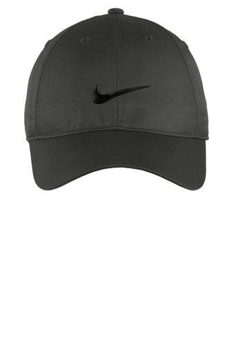 nike dri-fit swoosh front cap 548533 anthracite/ black