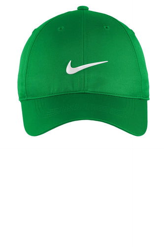 nike dri-fit swoosh front cap 548533 lucky green/ white