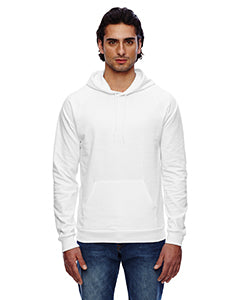 American Apparel Unisex California Fleece Pullover Hoodie 5495W WHITE