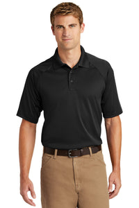 CornerStone Black TLCS410 polo custom shirts