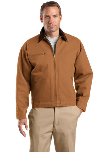 CornerStone Duck Brown/ Brown TLJ763  promotional jackets company logo