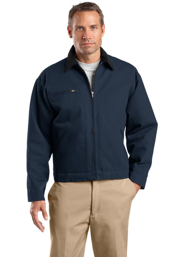 CornerStone Navy/ Black TLJ763 promotional jackets company logo