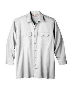 dickies_574_white_company_logo_button downs