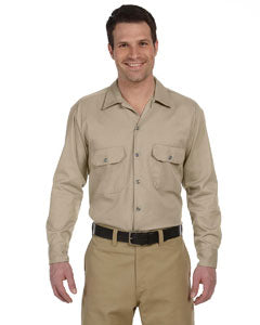 dickies_574_khaki_company_logo_button downs