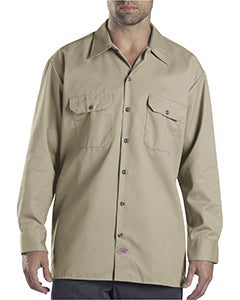 dickies_574_desert sand_company_logo_button downs