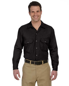 dickies_574_black_company_logo_button downs