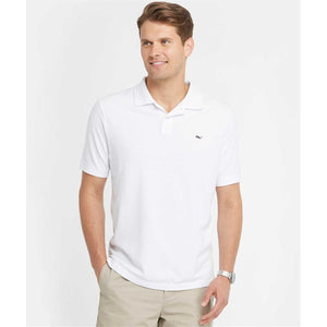 Vineyard Vines Men's Classic Pique Polo 1K0503 Whitecap