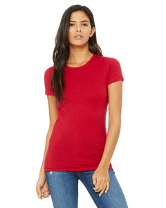 bella + canvas ladies the favorite t-shirt 6004 red
