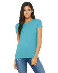 bella + canvas ladies the favorite t-shirt 6004 turquoise