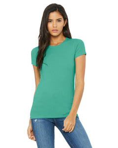 bella + canvas ladies the favorite t-shirt 6004 teal
