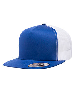 Yupoong Adult 5-Panel Classic Trucker Cap 6006 ROYAL/ WHITE