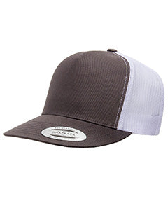 Yupoong Adult 5 -Panel Classic Trucker Cap 6006 CHARCOAL/ WHITE