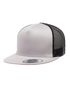Yupoong Adult 5-Panel Classic Trucker Cap 6006 SILVER/ BLACK