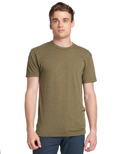Next Level Men's Triblend Crew 6010 MILITARY GREEN