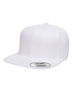Yupoong Adult 6-Panel Structured Flat Visor Classic Snapback 6089 WHITE