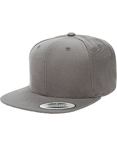 Yupoong Adult 6-Panel Structured Flat Visor Classic Snapback 6089 DARK GREY