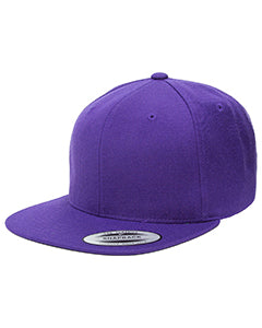 Yupoong Adult 6-Panel Structured Flat Visor Classic Snapback 6089 PURPLE