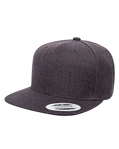 Yupoong Adult 6-Panel Structured Flat Visor Classic Snapback 6089 DARK HEATHER