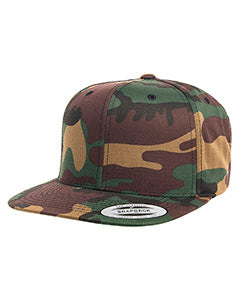 Yupoong Adult 6-Panel Structured Flat Visor Classic Snapback 6089 CAMO