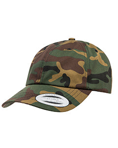 Yupoong Adult Low-Profile Cotton Twill Dad Cap 6245CM GREEN CAMO