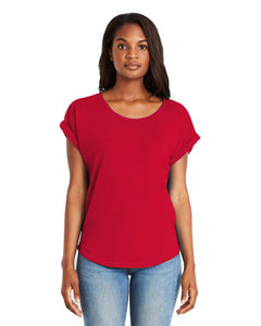 Next Level Ladies Dolman With Rolled Sleeves 6360 Red