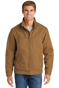 CornerStone Duck Brown CSJ40 jacket company logo