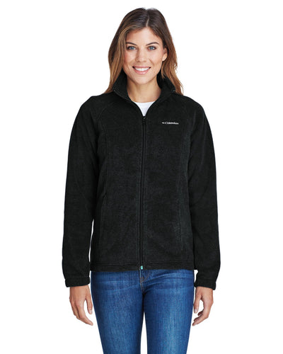 Columbia Black 6439 embroidered jackets for business