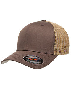 flexfit_6511_brown/ khaki_company_logo_headwear