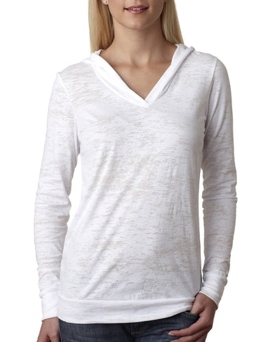 Next Level Ladies Burnout Hoody 6521 White