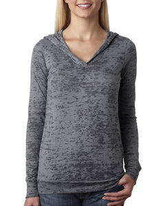 Next Level Ladies Burnout Hoody 6521 Dark Gray