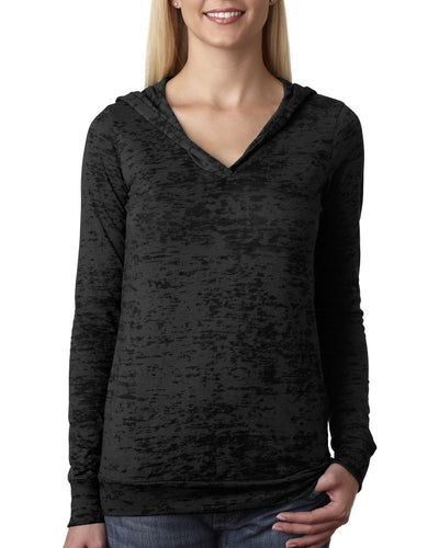 Next Level Ladies Burnout Hoody 6521 Black