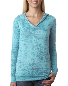 Next Level Ladies Burnout Hoody 6521 Tahiti Blue