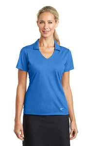 nike ladies dri fit vertical mesh polo brisk blue