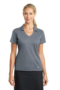 nike ladies dri fit vertical mesh polo cool grey