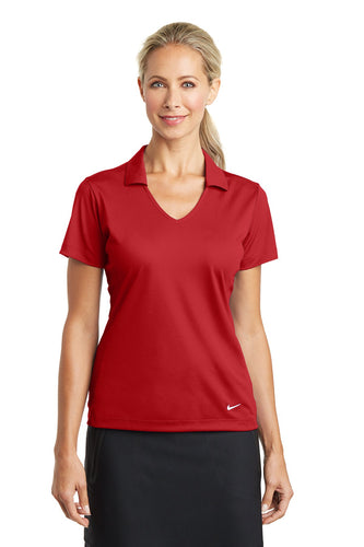 nike ladies dri fit vertical mesh polo university red