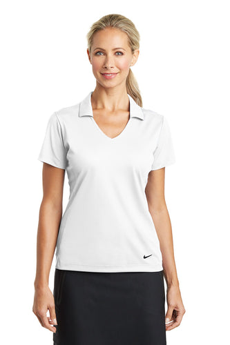 nike ladies dri fit vertical mesh polo white