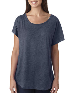 Next Level Ladies Triblend Dolman 6760 Indigo