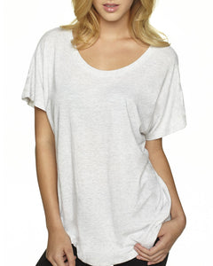 Next Level Ladies Triblend Dolman 6760 Heather White
