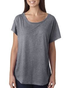 Next Level Ladies Triblend Dolman 6760 Premium Heather