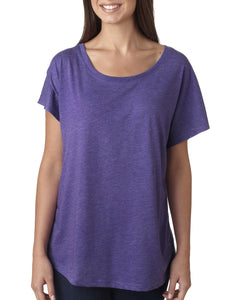 Next Level Ladies Triblend Dolman 6760 Purple Rush