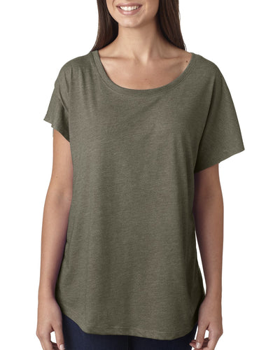 Next Level Ladies Triblend Dolman 6760 Venetian Gray