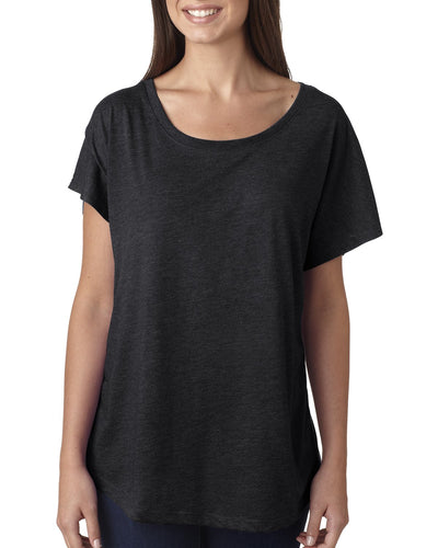 Next Level Ladies Triblend Dolman 6760 Vintage Black