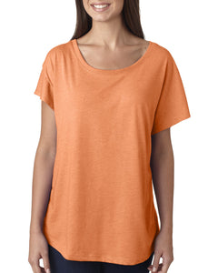 Next Level Ladies Triblend Dolman 6760 Vin Light Orang