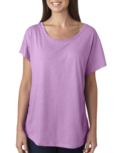 Next Level Ladies Triblend Dolman 6760 Vintage Lilac