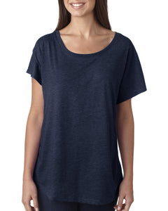 Next Level Ladies Triblend Dolman 6760 Vintage Navy
