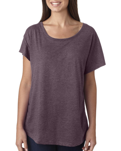 Next Level Ladies Triblend Dolman 6760 Vintage Purple